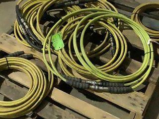 (qty - 14) Hytork Hydraulic Hoses 10,000 PSI