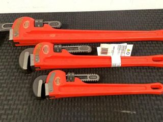 (3) Assorted Ridgid Pipe Wrenches