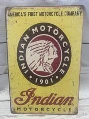 Indian Motorcycle Metal Sign