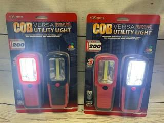 4 Versa Beam COB Utility Lights