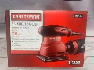 Craftsman 1/4 Sheet Sander 2 Amp