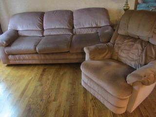 Lazy Boy Recliner, Barclay Sofa