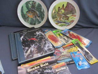 Fishing Plates & Books