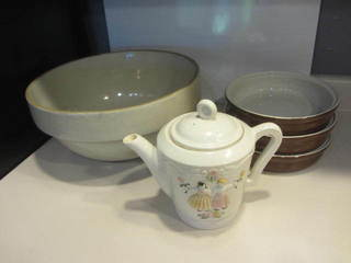 Crock Bowl, Hall Dishes, Coffee