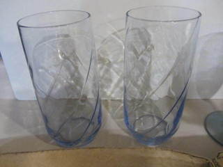 Blue Tumblers, Beer & Hi-ball Glasses