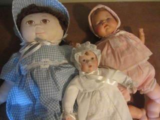 Dolls - Porcelain & Thumbelina