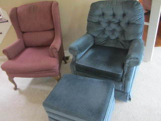 Lazy Boy Swivel Rocker, Wingback Chair