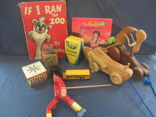 Vintage Pull Toys, Books