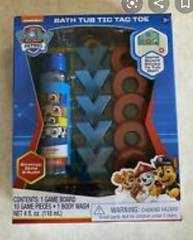 Nickelodeon Spin Master Paw Patrol Bath Tub Tic Tac Toe Kids Game With Body Wash