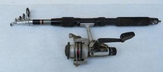 Folding Rod and Zeco lancer 4120 Open Face Reel