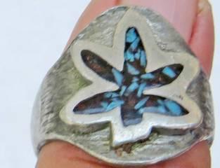 Old leaf Ring