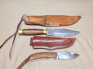 2 Knives & Sheaths