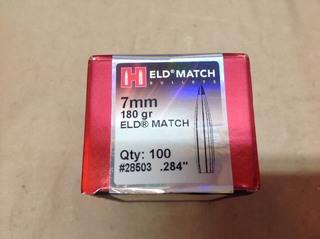 7mm 180 grain ELD Match Bullets