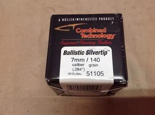 7mm 140 grain Ballistic Silvertip Bullets