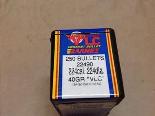 224 Cal 40gr Bullets