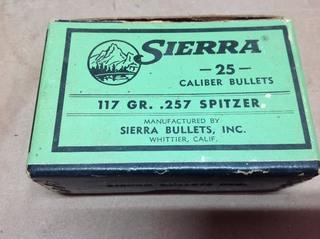 25 Cal 117 gr .257 Spitzer Bullets