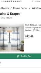 Holli Zollinger French Chambray Tassel Blackout Curtain