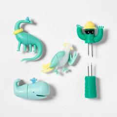 8pk Character Corn Holders Green   Sun Squad