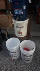 lot of Brewing Buckets