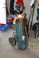 Lot of Golf clubs and accessories