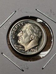 1990s cameo proof Eisenhower dime