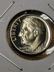 1972 s Cameo proof Roosevelt dime