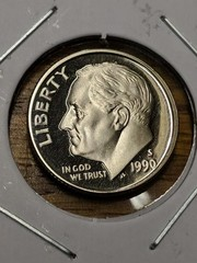 1990s cameo proof Roosevelt dime