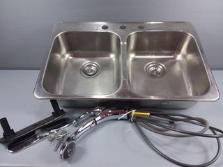 Double Sink & Tap
