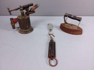 Vintage Soldering Gun, Iron & Scale