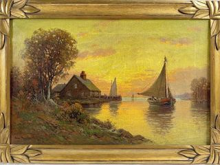 William Paskell (1866-1951) Oil On Canvas
