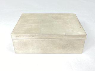 Cartier Sterling Silver Cigarette Box