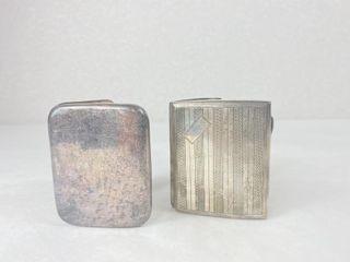 (2) Serling Silver Cigarette Holders