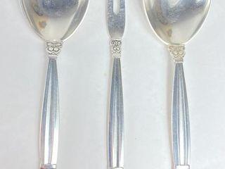 (3) George Jensen Sterling Silver Acorn Pattern