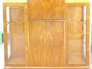 Lighted Art Deco Bar & Cabinet w/ Orig Key