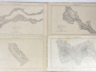 4 Antique Mississippi River Commission Maps 1903-4