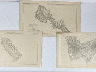 3 Antique Mississippi River Commission Maps 1903-4