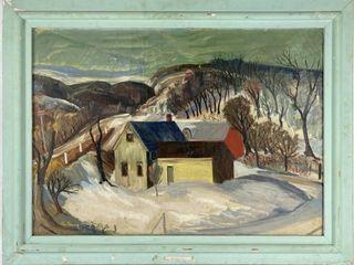 MN Artist Glen A Ranney Oil On Canvas 36