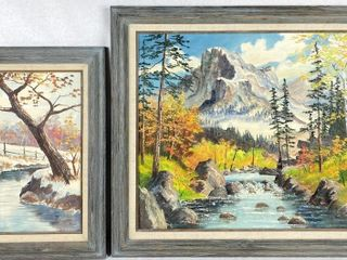 (2) Ken Zylla Original Oil On Canvas Paintings