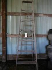7 Step Wooden Ladder