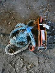Floor Jack & Rope With Hooks