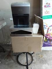 Case Of Chinese Take Out Boxes, Napkin Dispenser With Key, Paper Shredder, Propane Stand
