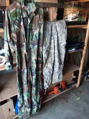 Camo Coveralls Size Small & Digital Camo Pants Size Large/Shirt