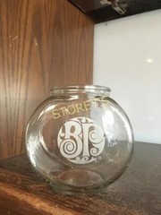 5 BP Fish Bowls / Candy Jars