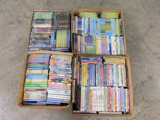 large lot of DVDs Appear Not Used Most Factory Sealed