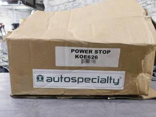 Autospecialty Power Stop KOE626 Brake Rotor Pads Set
