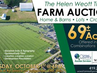 Helen Weott Trust Auction- Oct. 1st at 6PM