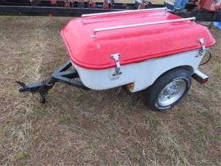 Single Axle motorcycle cargo trailer