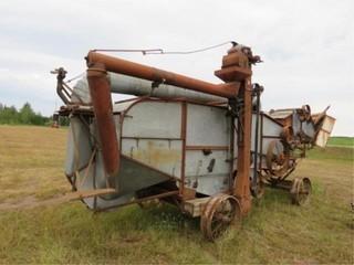 Hart Thrashing Machine, Steel wheels, Hitch
