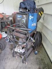 Millermatic 211 Auto-Set w/MVP wire welder on cart