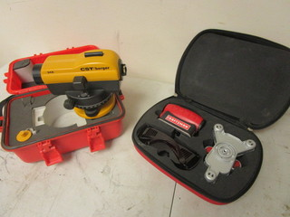 CST/BERGER AUTOMATIC LEVEL WITH STAND, CRAFTSMAN 4-IN-1 LASER TRAC LEVEL